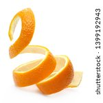 Orange peel isolated on white...