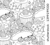seamless pattern with cake ... | Shutterstock .eps vector #1399199330