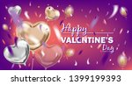 happy valentines day image with ... | Shutterstock . vector #1399199393