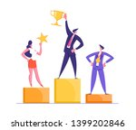 happy businessmen standing on... | Shutterstock .eps vector #1399202846