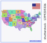 bright illustration with map... | Shutterstock . vector #1399205336