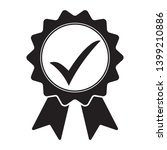 black icon approved or... | Shutterstock .eps vector #1399210886