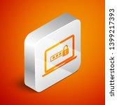 isometric laptop with password... | Shutterstock .eps vector #1399217393