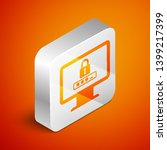 isometric monitor with password ... | Shutterstock .eps vector #1399217399