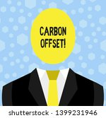 text sign showing carbon offset.... | Shutterstock . vector #1399231946