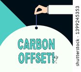 writing note showing carbon... | Shutterstock . vector #1399245353