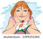 vector illustration of a girl...   Shutterstock .eps vector #1399252283