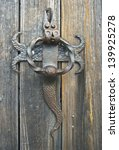 door knocker on an old wooden... | Shutterstock . vector #139925278