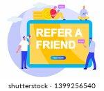 refer a friend vector flat...