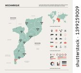 vector map of mozambique.... | Shutterstock .eps vector #1399259009