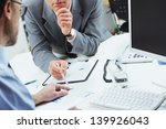close up of business colleagues ... | Shutterstock . vector #139926043