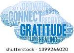 gratitude word cloud on a white ... | Shutterstock .eps vector #1399266020
