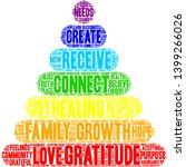 gratitude word cloud on a white ... | Shutterstock .eps vector #1399266026