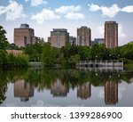 Lake Reflection of Reston Town Center in Reston Virginia