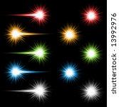 set of 10 bright coloured... | Shutterstock .eps vector #13992976