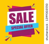 sale special offer vector... | Shutterstock .eps vector #1399303550