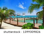 view from beach at tropical... | Shutterstock . vector #1399309826