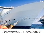 side view of cruise ships on... | Shutterstock . vector #1399309829