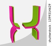 colorful big 3d letter. trendy... | Shutterstock .eps vector #1399314629