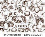 fruits trees design. cherry ... | Shutterstock .eps vector #1399321223