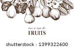 fruits branches bouquet. hand... | Shutterstock .eps vector #1399322600