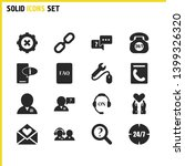 service icons set with manager...