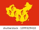 china as country of old people  ... | Shutterstock .eps vector #1399329410