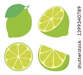 icon set lime  vector... | Shutterstock .eps vector #1399340789