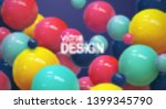 abstract background with... | Shutterstock .eps vector #1399345790