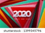 happy new 2020 year. vector... | Shutterstock .eps vector #1399345796