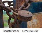 Rust  Iron Gate Locked With...
