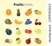 set of fruits icons. vector...   Shutterstock .eps vector #1399354313