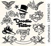 old school  tattoo   icons set... | Shutterstock .eps vector #1399365140