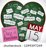 heart shaped blackboard with... | Shutterstock .eps vector #1399397249