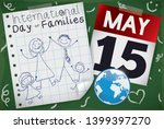 chalkboard  calendar  globe and ... | Shutterstock .eps vector #1399397270