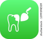 isolated tooth reconstruction... | Shutterstock . vector #1399398539