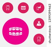 set of 6 teeth icons set.... | Shutterstock . vector #1399399463