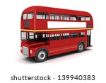 3d london bus on white... | Shutterstock . vector #139940383