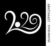 happy new year 2020  ... | Shutterstock .eps vector #1399412489