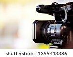 Video journalist capturing...