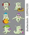 set of vector cute cartoon... | Shutterstock .eps vector #139941520