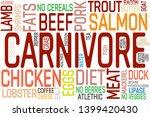 carnivore diet word cloud... | Shutterstock .eps vector #1399420430