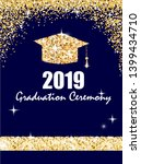 graduation ceremony banner with ... | Shutterstock .eps vector #1399434710