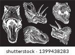 graphical dinosaur portraits... | Shutterstock .eps vector #1399438283