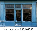 Old Blue Shop In Paris With...