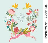 beautiful greeting card with... | Shutterstock .eps vector #139944838