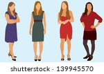 women wearing dress | Shutterstock .eps vector #139945570