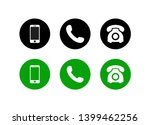 phone icon vector. set... | Shutterstock .eps vector #1399462256