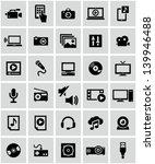 multimedia icons | Shutterstock .eps vector #139946488