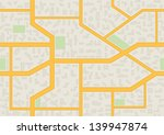 abstract city map seamless... | Shutterstock .eps vector #139947874